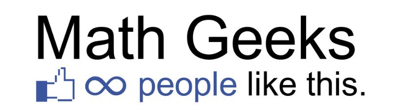 Facebook Math Geeks Infinity