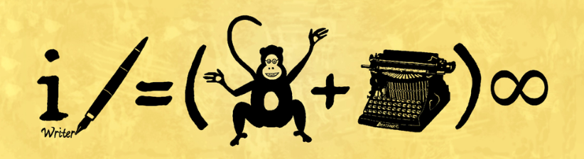 Funny Writer Monkey Typewriter Equation