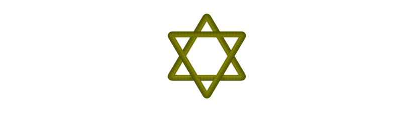 Gold Wood Star Of David For Jewish Traditions