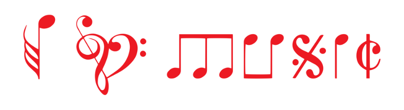 I Love Music Written With Music Notes