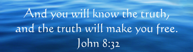 Inspirational Christian Quote John 8 32