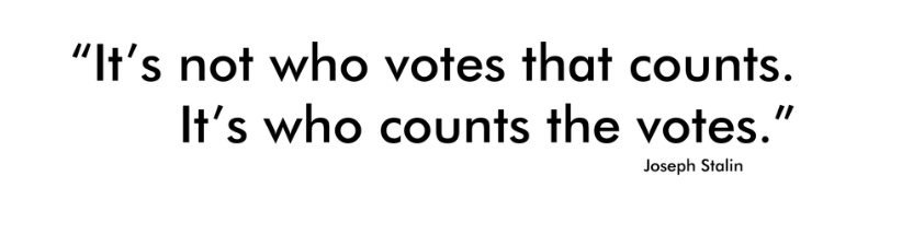 Its Not Who Votes That Counts