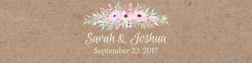 Pinkish Blooms Kraft Paper