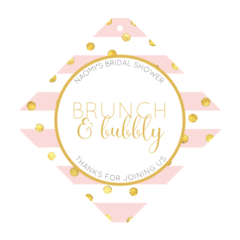 brunch and bubbly wine hang tag by bottleyourbrand