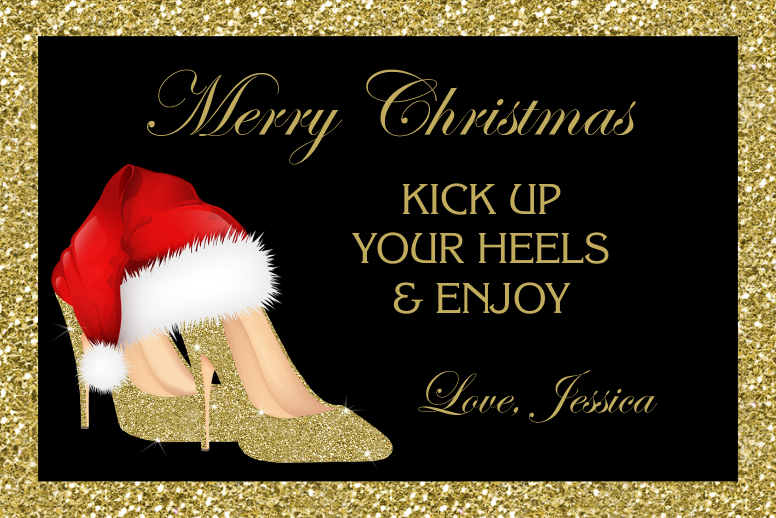 Christmas Gold High Heels
