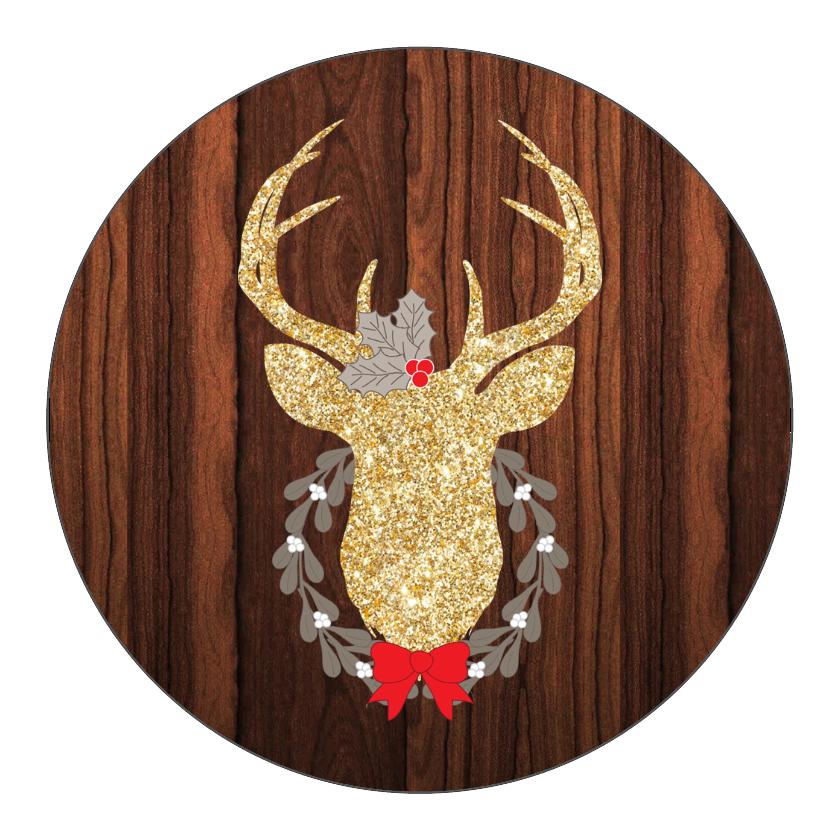 Gold Glitter Deer