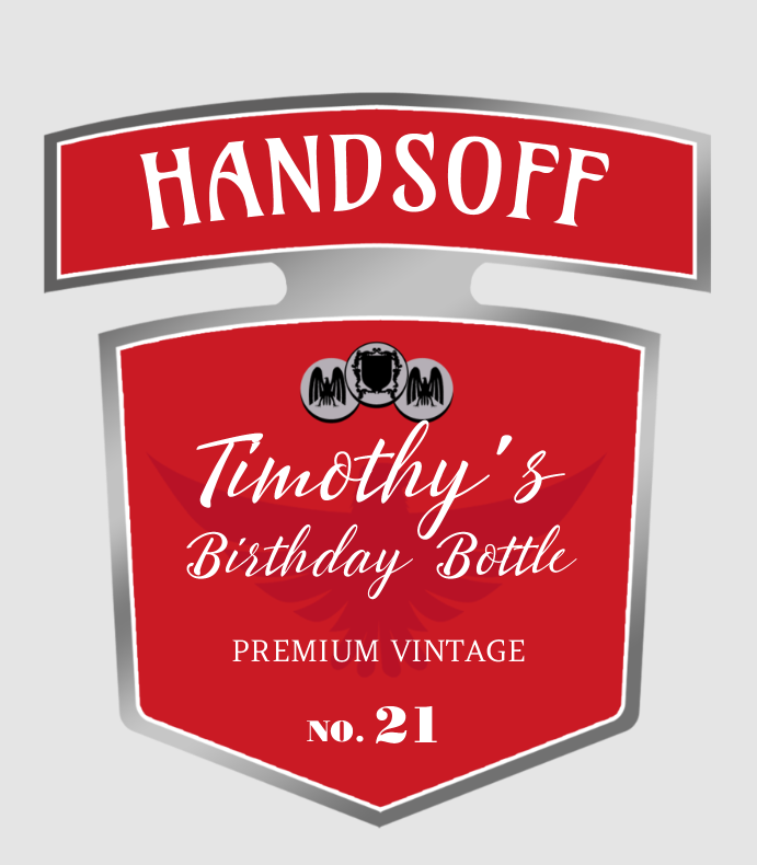 Handsoff Birthday Bottle