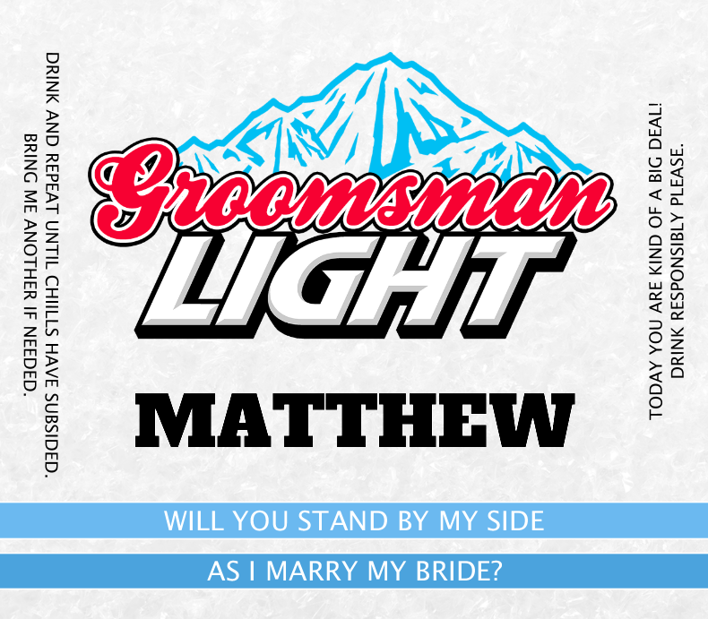 Groomsman Light Beer