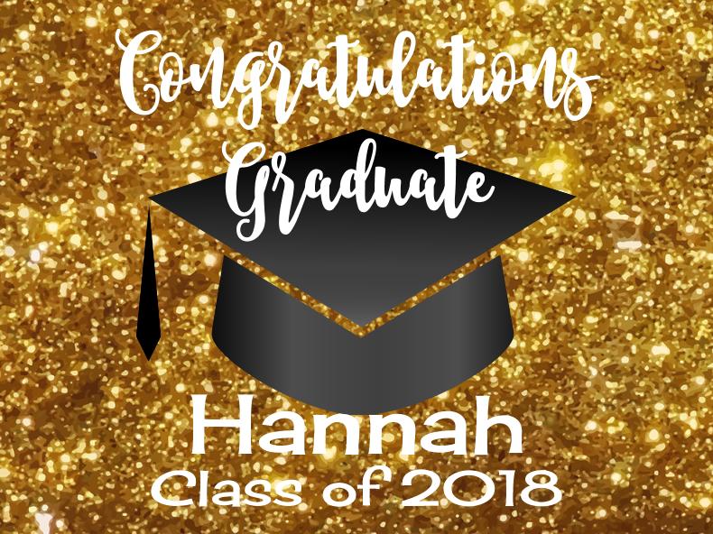 Graduation Gold Glitter