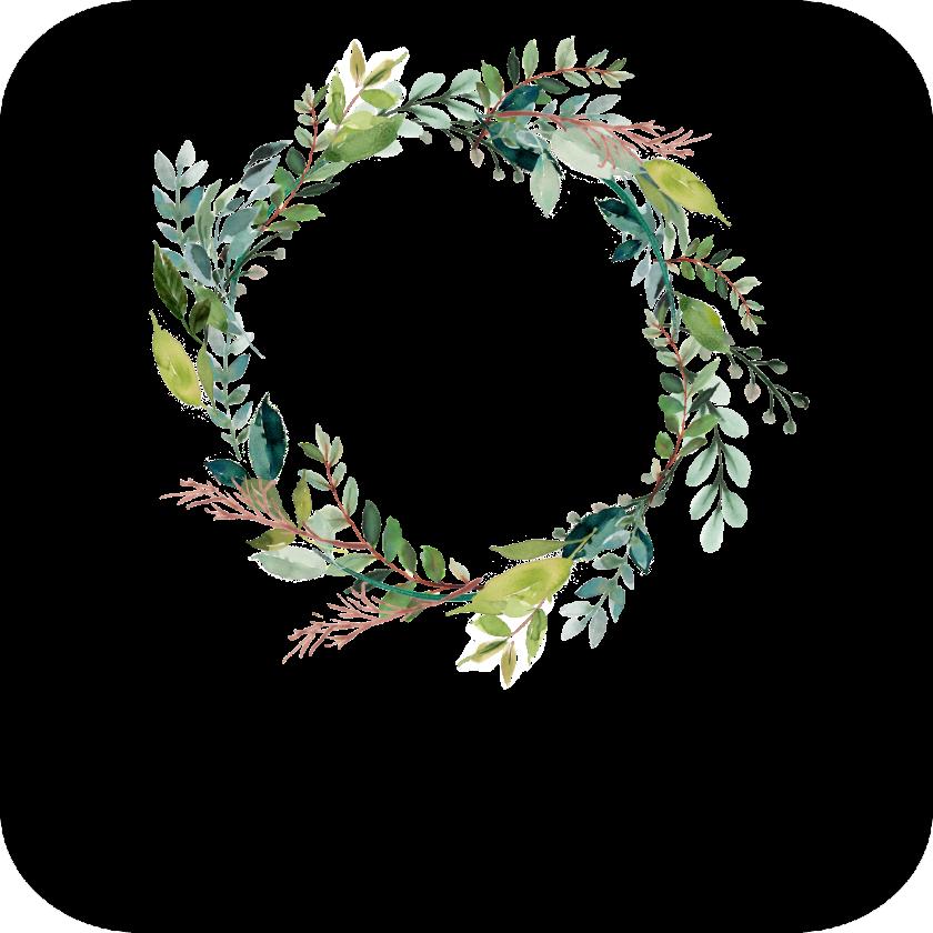 Mr & Mrs Wedding Wreath