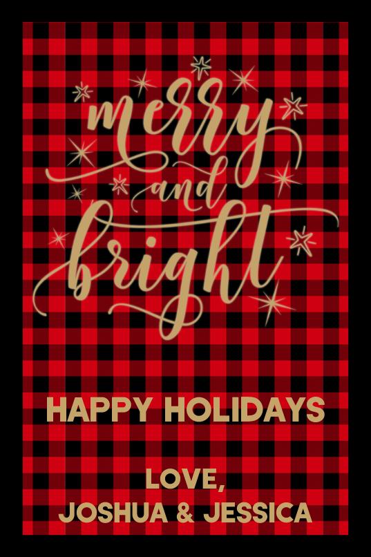 Merry and Bright Buffalo Plaid