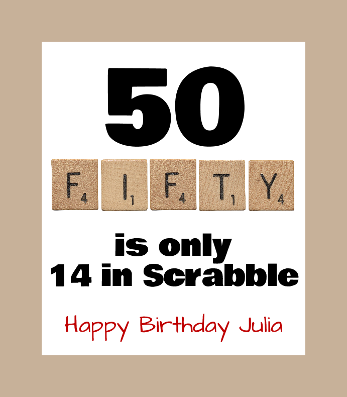 Scrabble Fifty