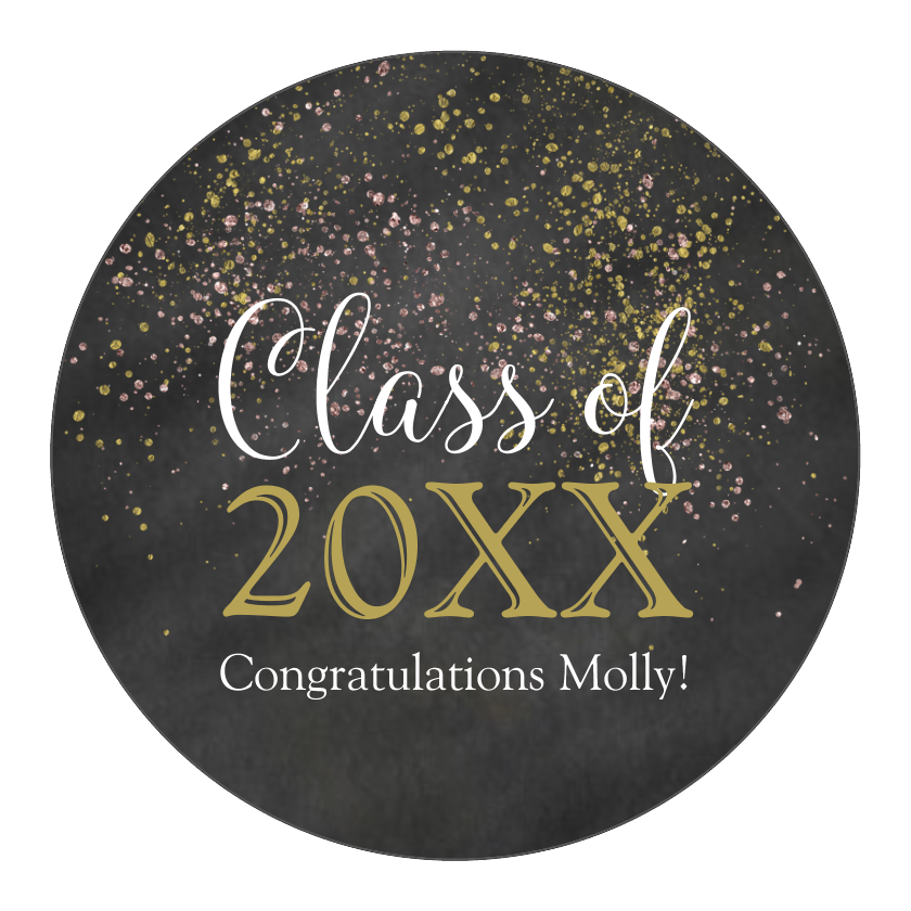 Chalkboard Glitter Graduation