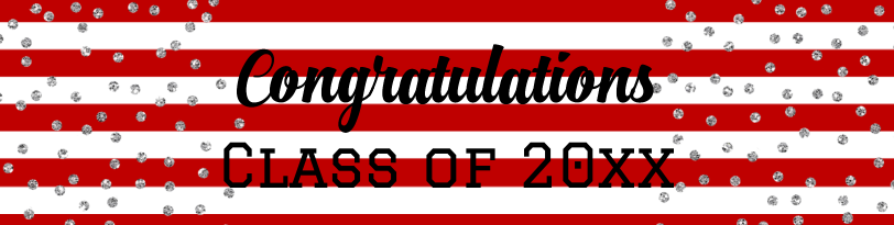 Graduation Confetti Stripes