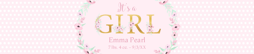 It's a Girl Letters
