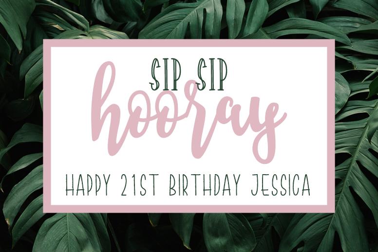 Sip Sip Hooray Birthday