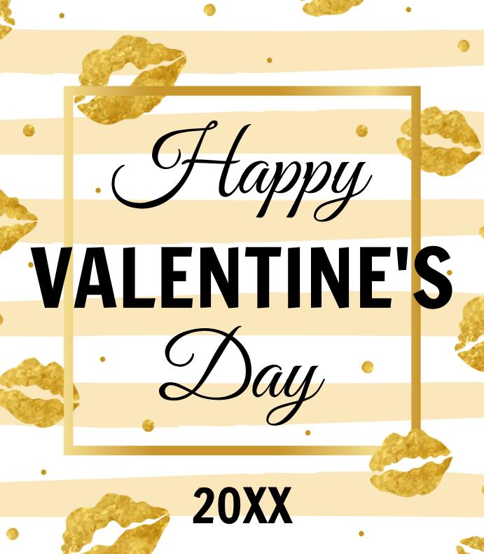 Gold Valentines Day