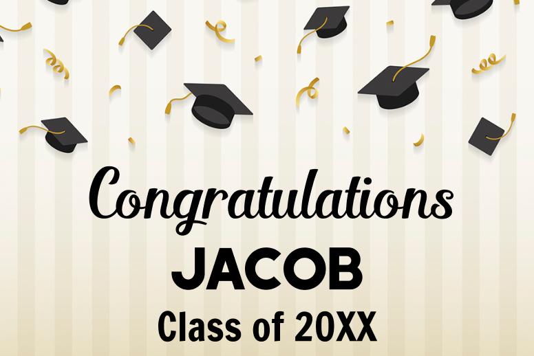 Graduation Caps & Confetti