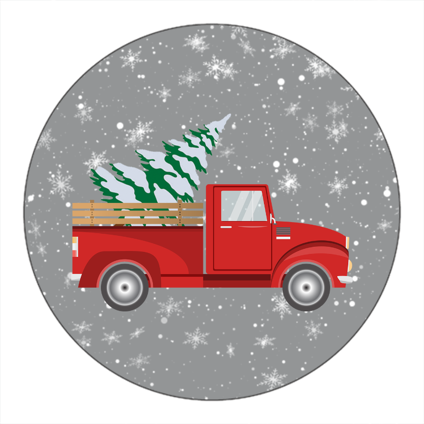 Retro Red Truck Christmas
