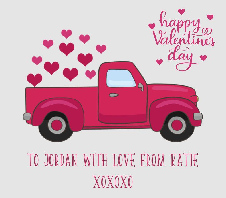 Valentine Retro Truck