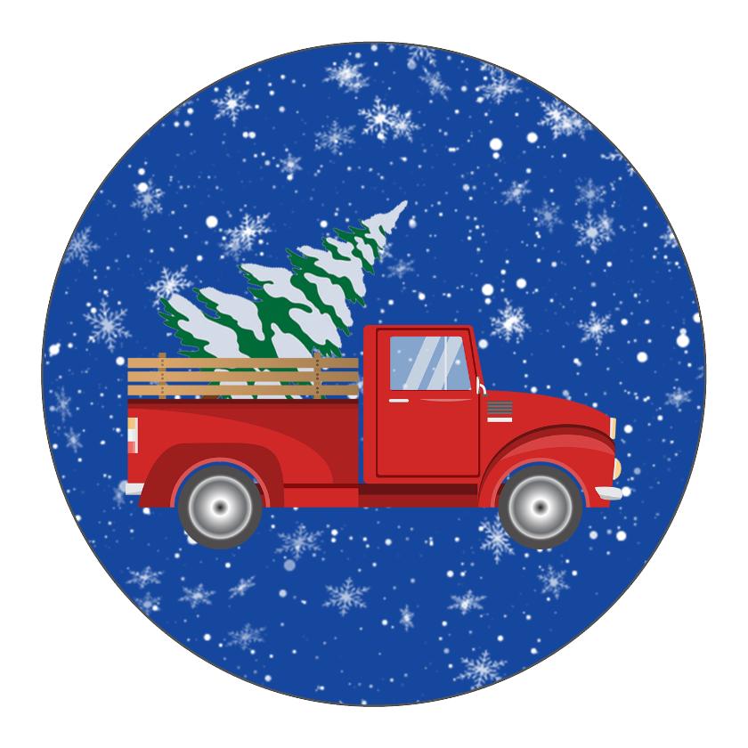 Retro Red Truck Christmas