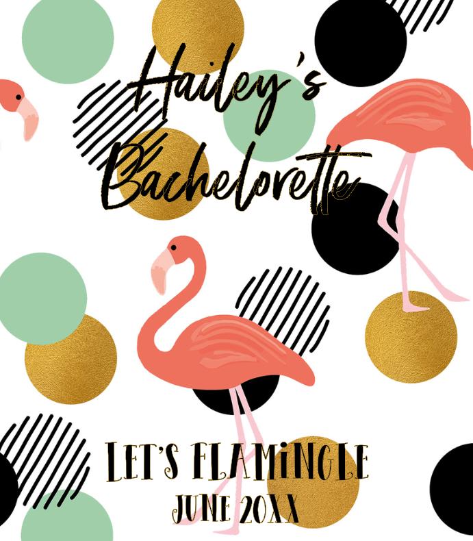 Trendy Tropical Flamingo