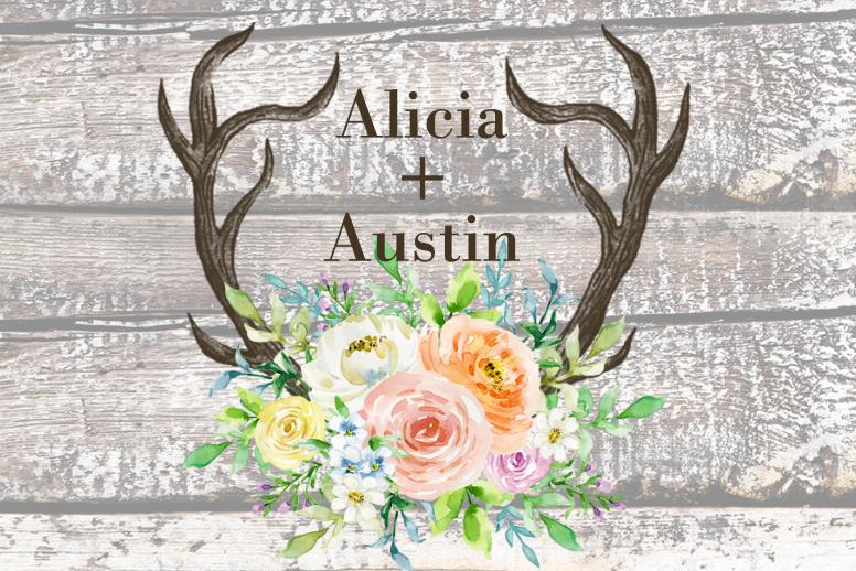 Rustic Antlers Spring Floral