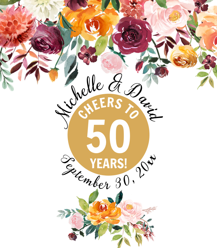 Autumn Floral Anniversary