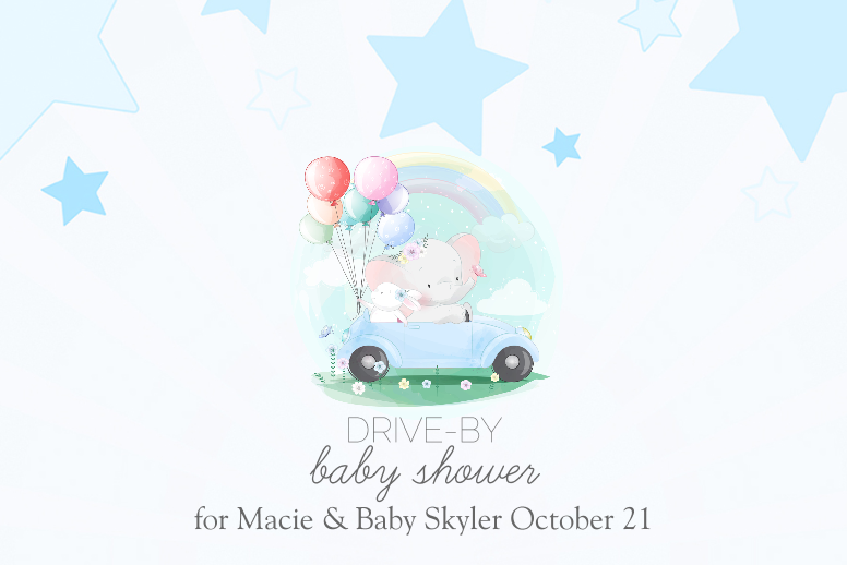 Drive-By Baby Shower for Boy