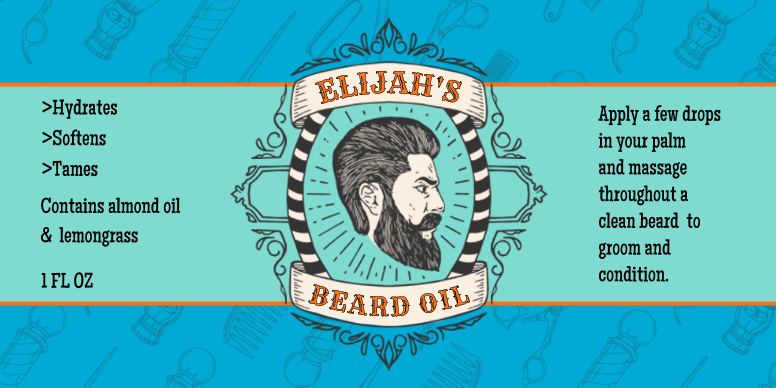 Beard Oil Template