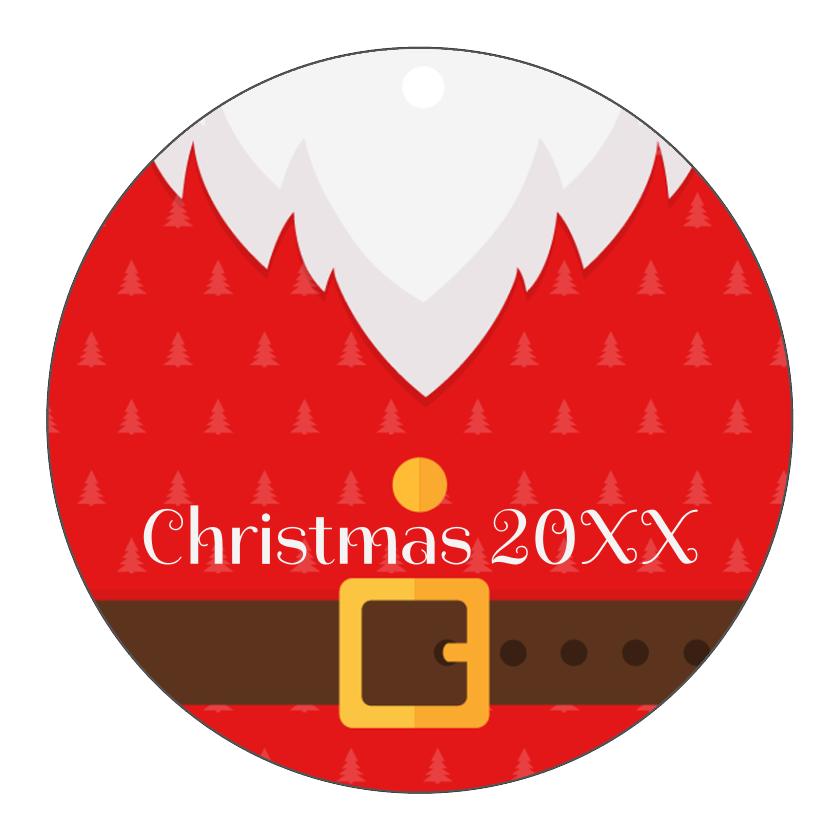 Christmas Santa Tag