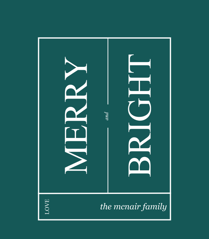 Minimalist Merry and Bright