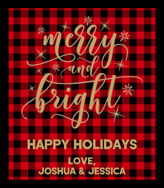 Merry and Bright Buffalo Plaid