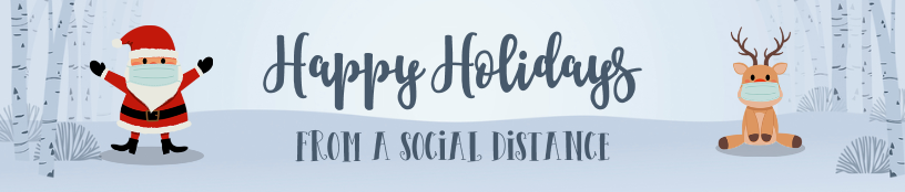 Social Distancing Santa and Reindeer