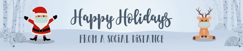 Social Distancing Santa and Reindeer