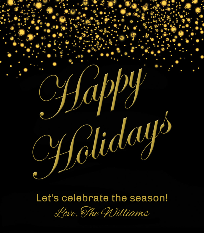 Holiday Gold Glitter