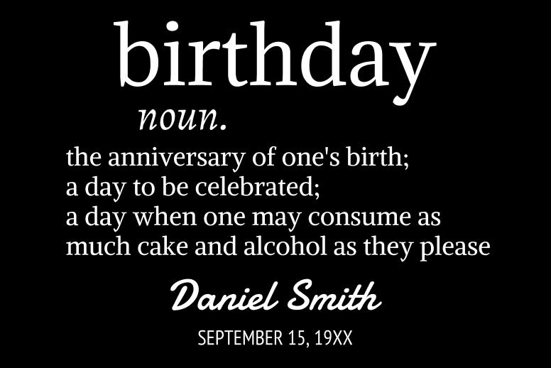Birthday Dictionary