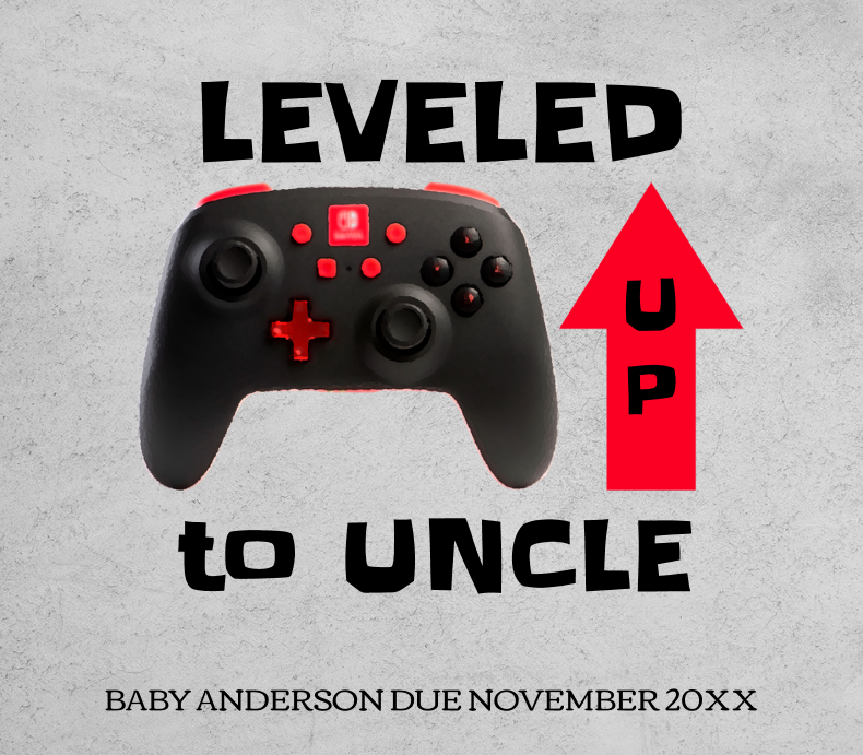 Leveled Up Pregnancy Announcement