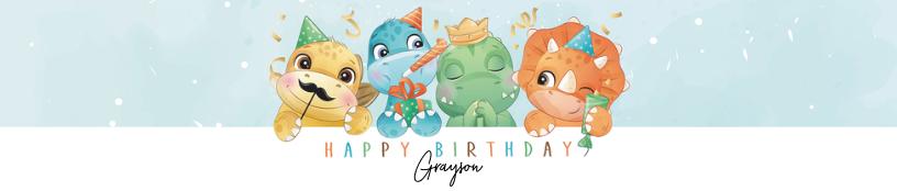 Cute Dinosaur Birthday
