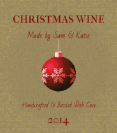 Wine Label - Red Ornament
