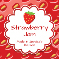 Food Label - Strawberry Jam