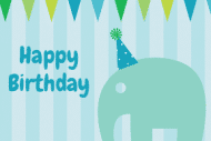 Birthday Gift Tag - Circus