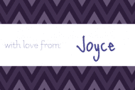 Expressions Gift Tag - Purple Zag