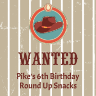 Birthday Sticker - Wanted
