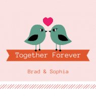 Wedding Sticker - Together Forever