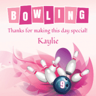 Birthday Sticker - Bowling Birthday Girl