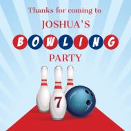 Birthday Sticker - Bowling Birthday Boy