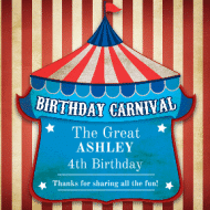 Birthday Sticker - Birthday Carnival