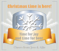 Holiday Beer Label - Time for Beer