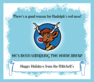 Holiday Beer Label - Rudolph's Nose